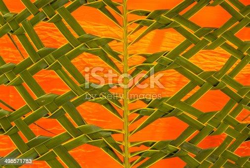 istock Coconut leaf weaving 495571783