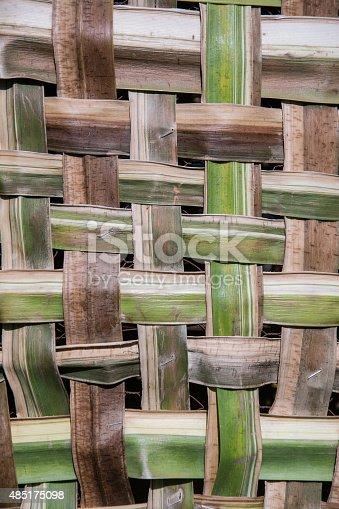 istock coconut leaves weave pattern 485175098