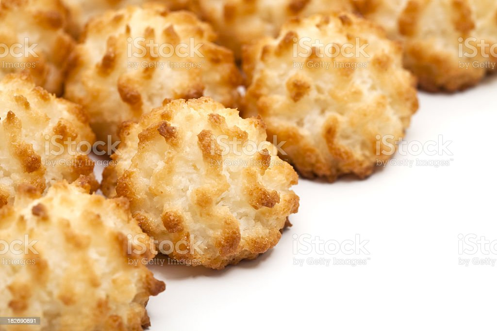 coconut macaroon cookies royalty-free stock photo