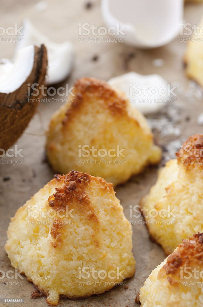 Coconut Macaroons bildbanksfoto