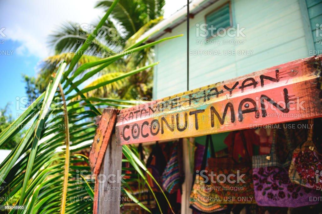 Coconut Man stock photo