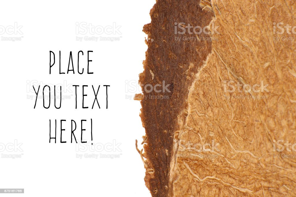 Coconut Nut Fibers Surface Texture. Natural Tropical Background. Place for Text. Macro Closeup. stock photo