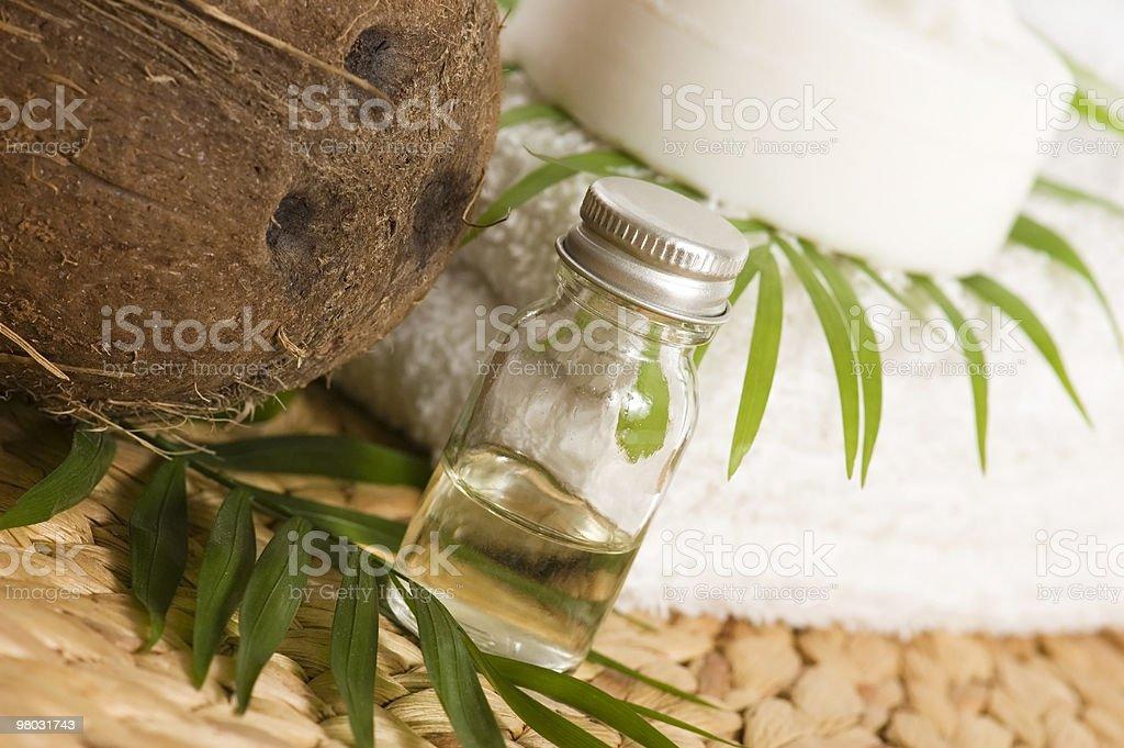 Olio di cocco per Terapia alternativa foto stock royalty-free
