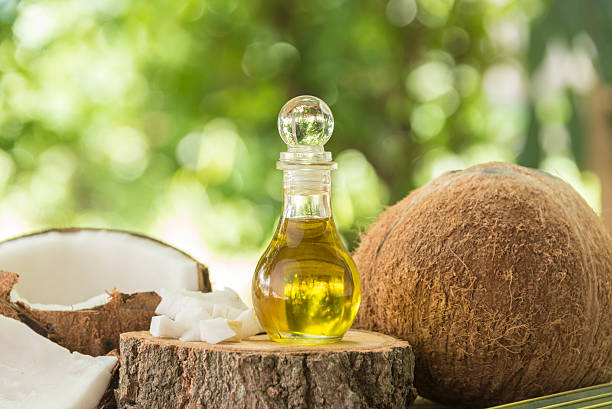coconut oil stock photo