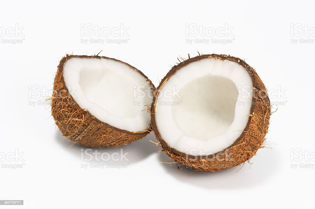 coconut on white background royalty-free stock photo
