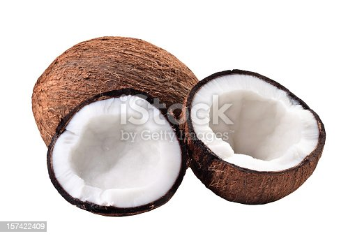 Coconut - Tropical Fruit. Isolated on white with clipping path.
