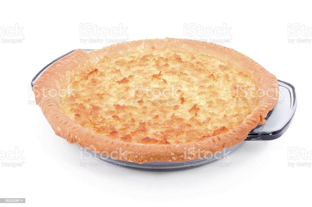 Torta de coco Isolado no branco - foto de acervo