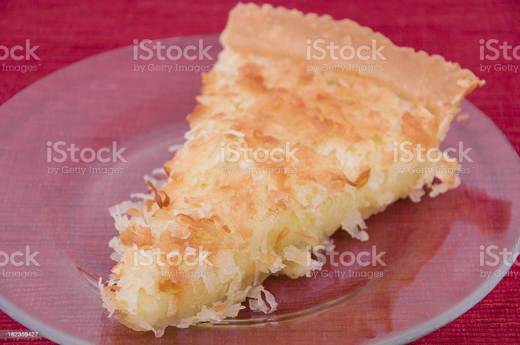 Fatia de torta de coco - foto de acervo