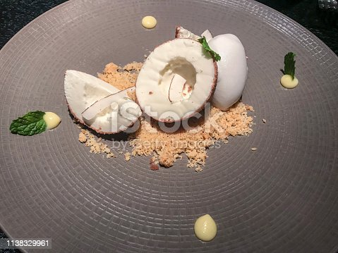 Coconut semifreddo
