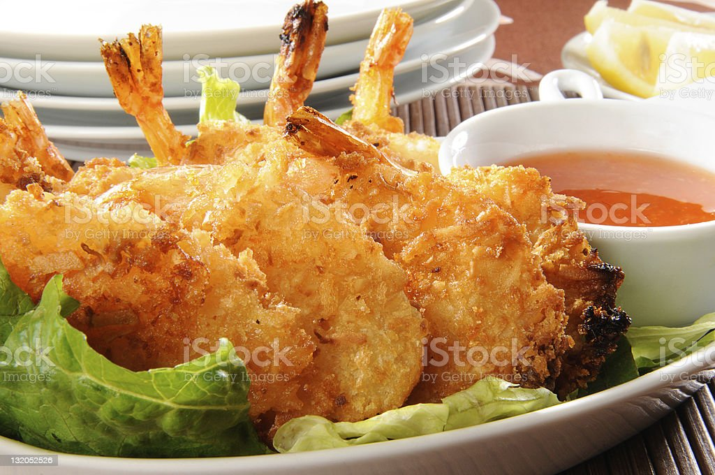 Coconut Shrimp stock photo