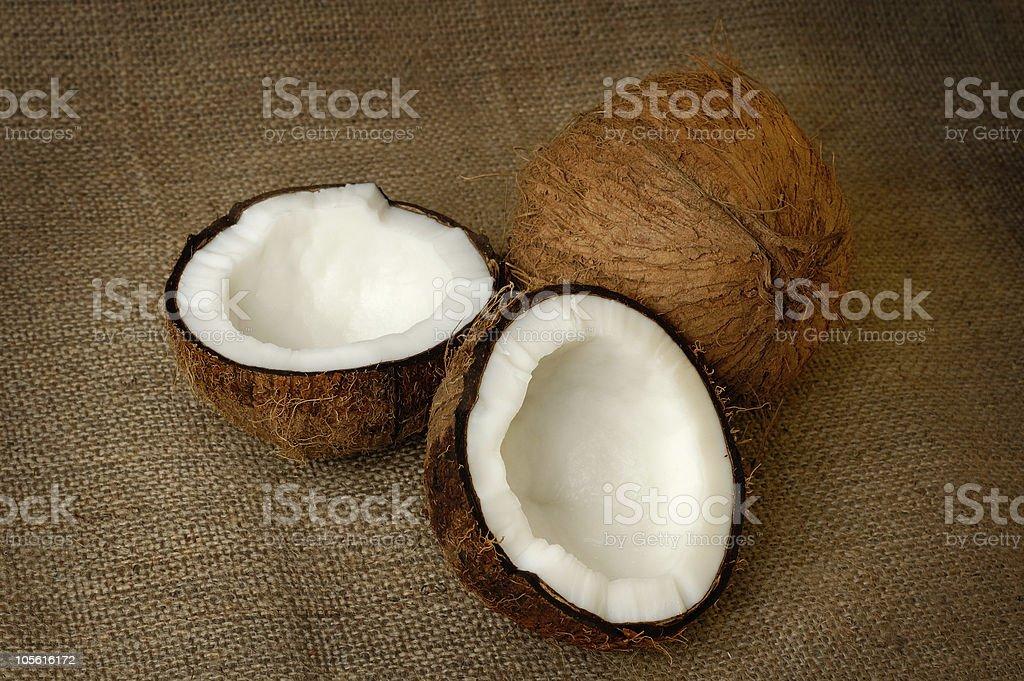 Coconut still-life royalty-free stock photo