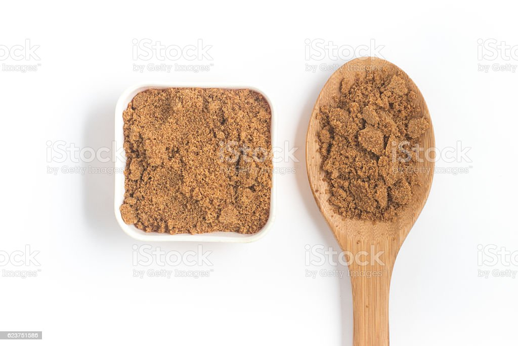 Coconut Sugar. Low glycemic index stock photo
