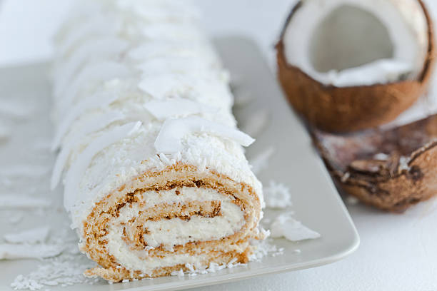 Coconut swiss roll – Foto
