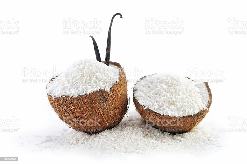 Coconut with crumbs royalty-free stock photo