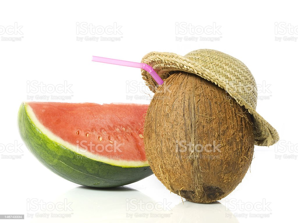 Coconut with melon royalty-free stock photo