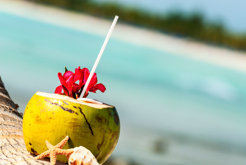 Coconuts On The Beach Stock Photo - Download Image Now