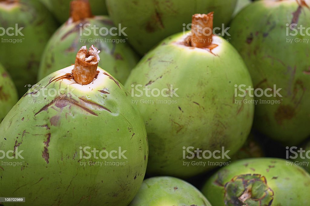 Coconuts, ready to be served royalty-free stock photo