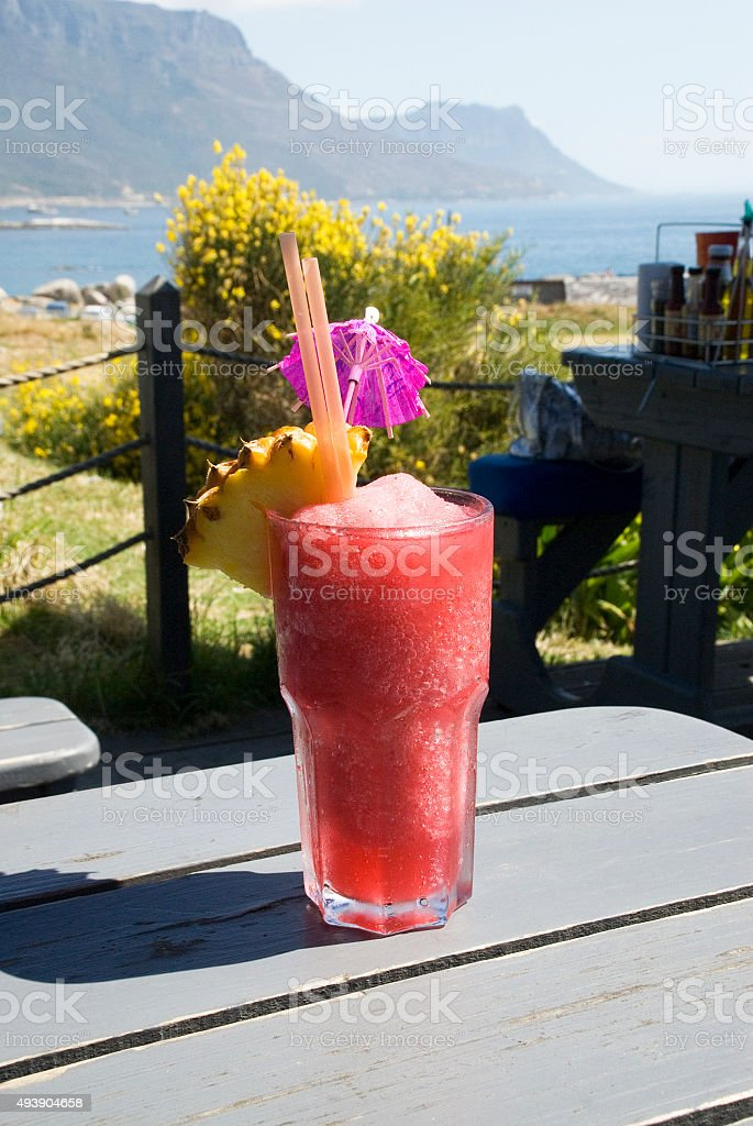 Coctail in Cape Town stock photo