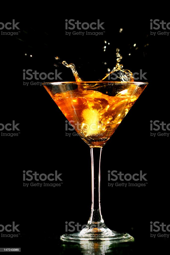 coctail splash stock photo