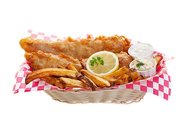 bacalhau e batata chips - frito - fotografias e filmes do acervo