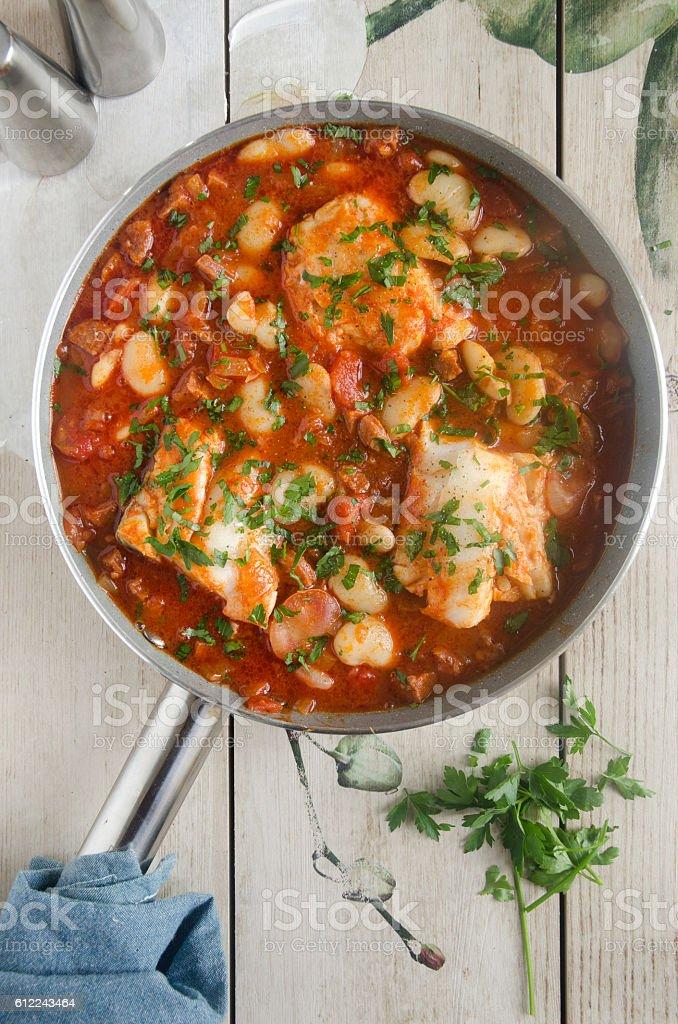 Cod and chorizo stew – Foto