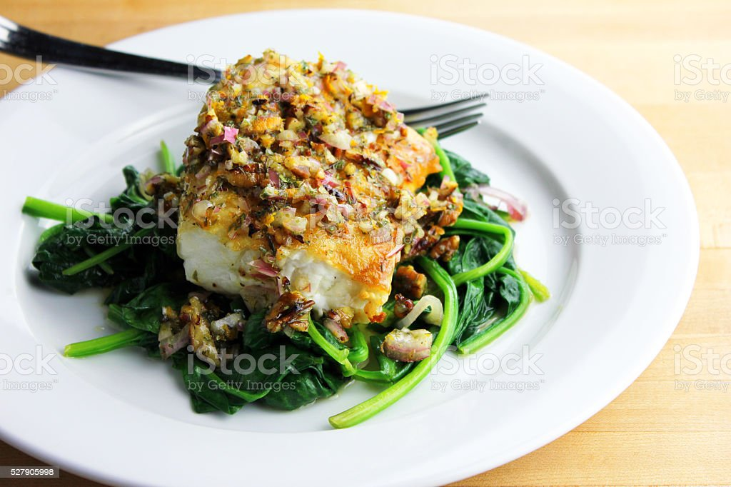 Cod Dish stock photo