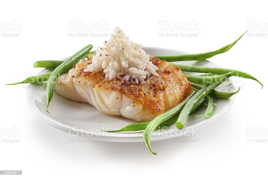 Bacalao pescado - Foto de stock de Arroz - Comida básica libre de derechos