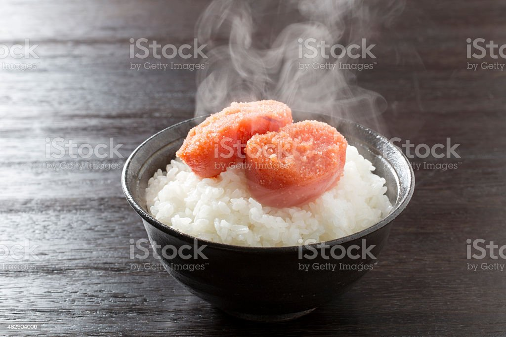 Cod roe rice stock photo