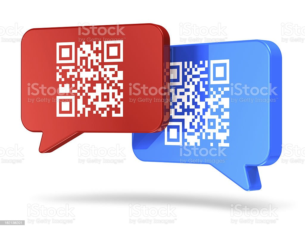 QR code communication concept royalty-free stock photo