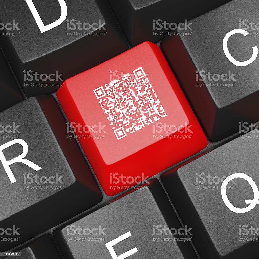 QR Code Computer  Keyboard stock photo