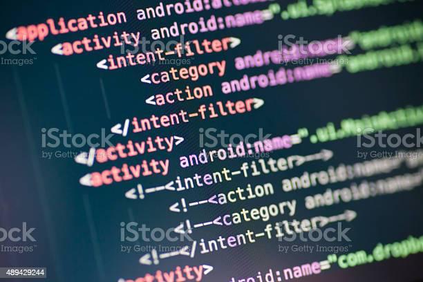 Code lines on a display picture id489429244?b=1&k=6&m=489429244&s=612x612&h=niftqs69szee7ofvloazcgvcgivgucwjis di5vq35q=