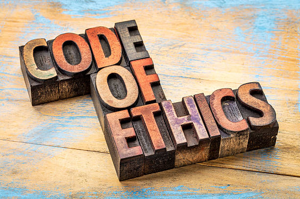 Le code de déontologie bannert en type de bois - Photo