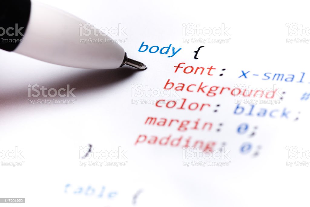 CSS Code stock photo