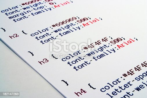 Cascading Style Sheet markup