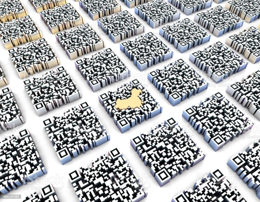 dafa5f8ed19 Tecnología de código de QR, transmisión de datos inalámbrica, mapa de China  foto de