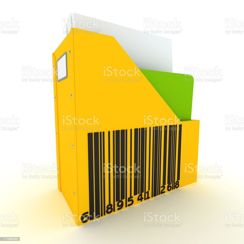 Coded information stock photo