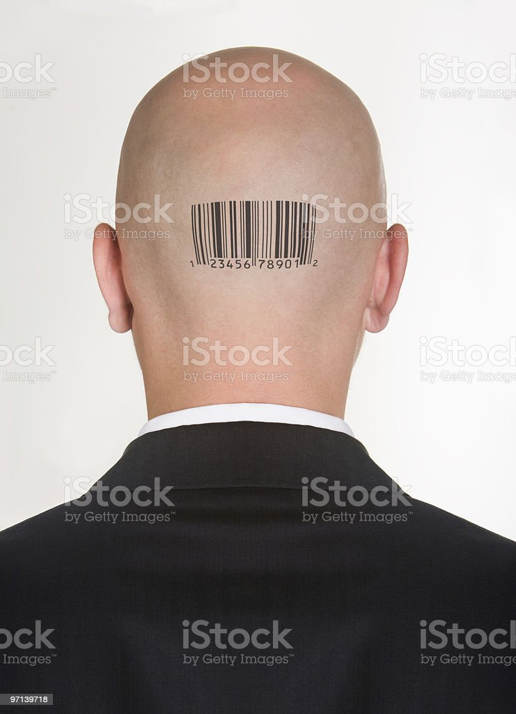 Coded male stock photo