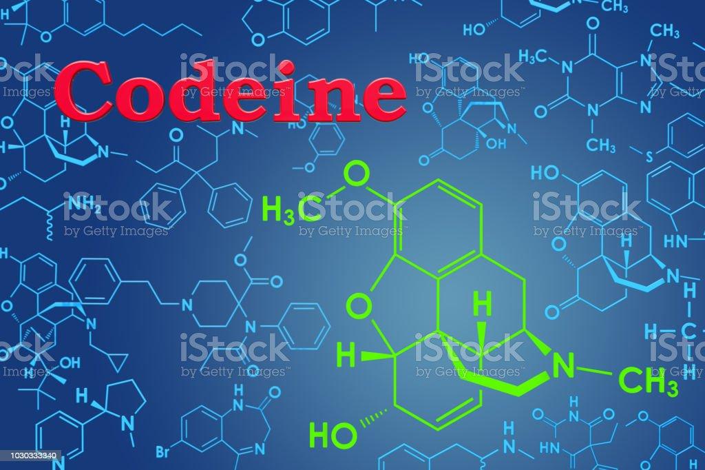 Codein Chemische Formel Molekulare Struktur 3drendering Stock ...