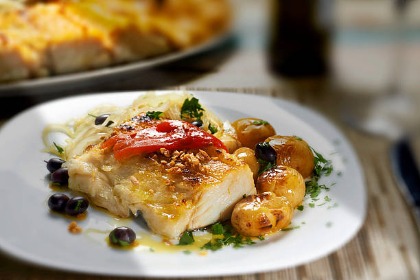codfish - spanish food stock photos and pictures