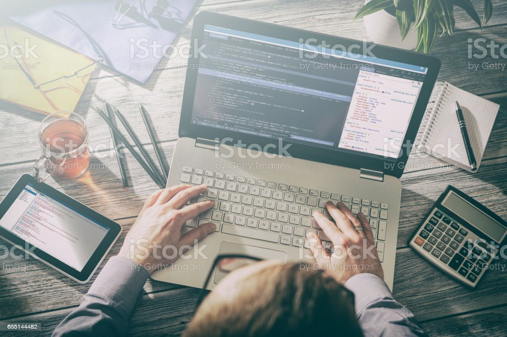 coding code program compute coder develop developer development stock photo