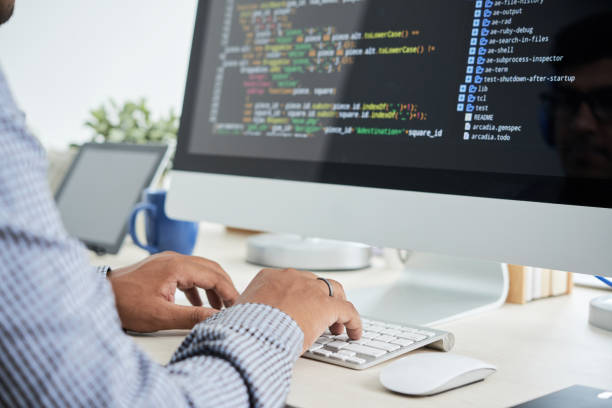 coding man - algorithm stock pictures, royalty-free photos & images