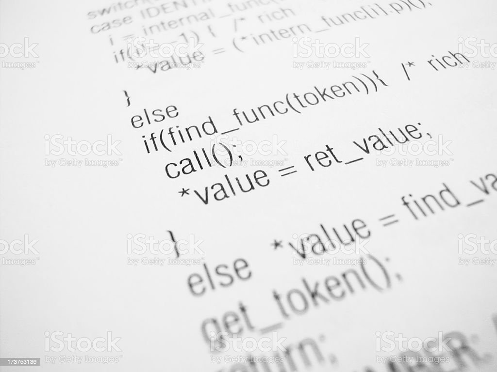 coding royalty-free stock photo