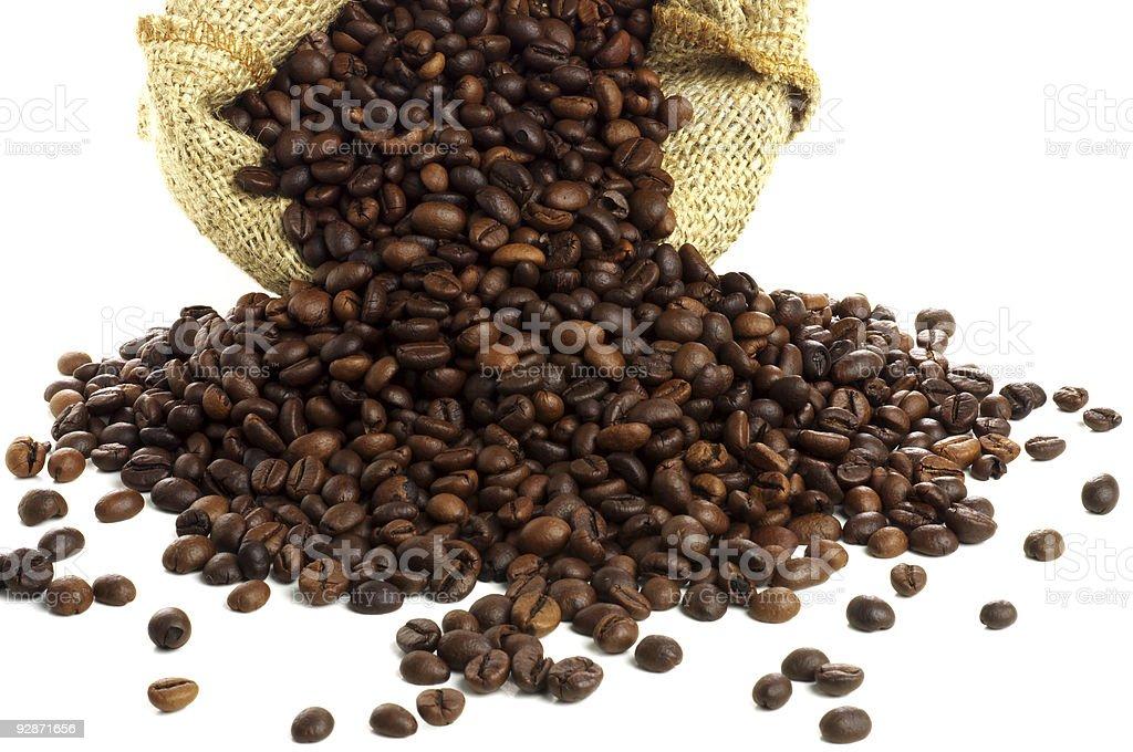 Cofee bean bag royalty-free stock photo