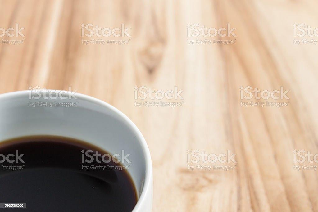cofee on table wooden photo libre de droits
