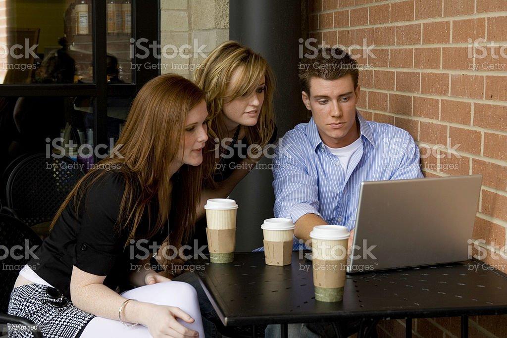 Cofee shop meeting royalty-free stock photo