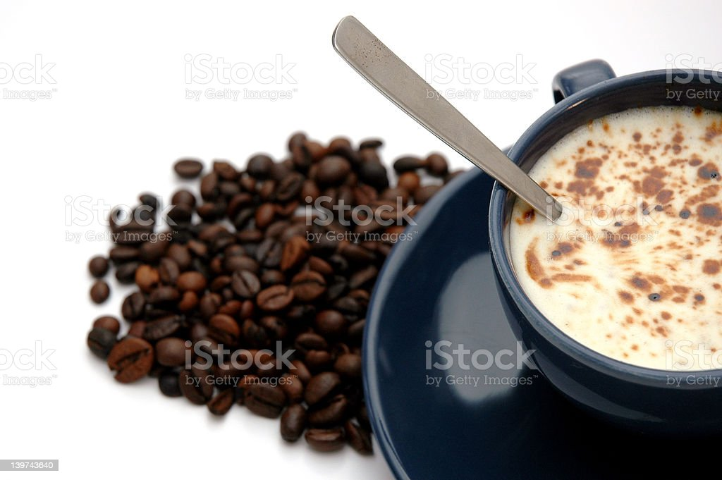 Coffe and beans royalty-free stock photo