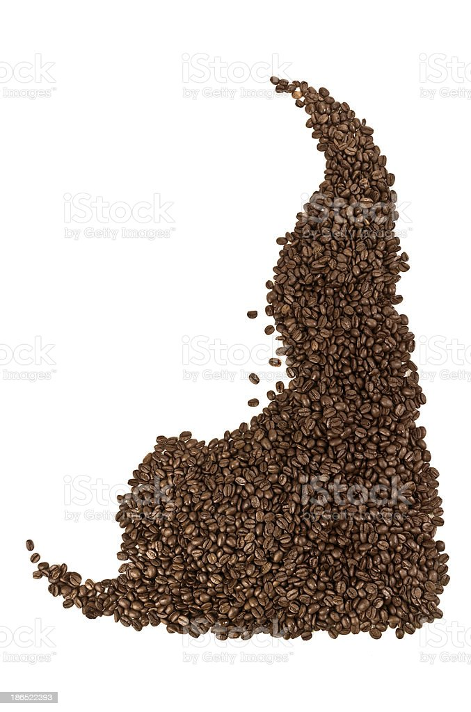 coffe beans pattern royalty-free stock photo