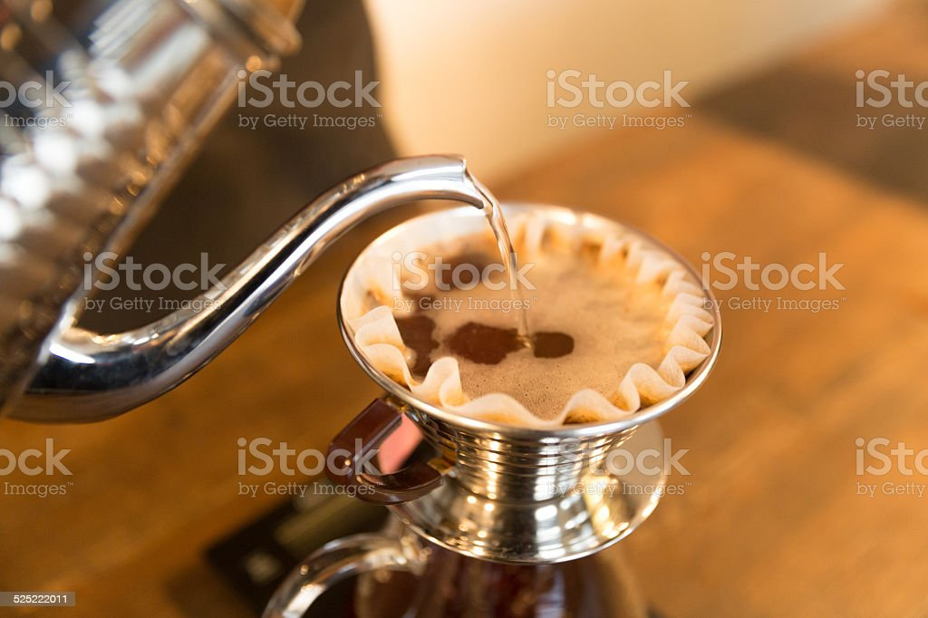 Coffe brewing - old style stock photo