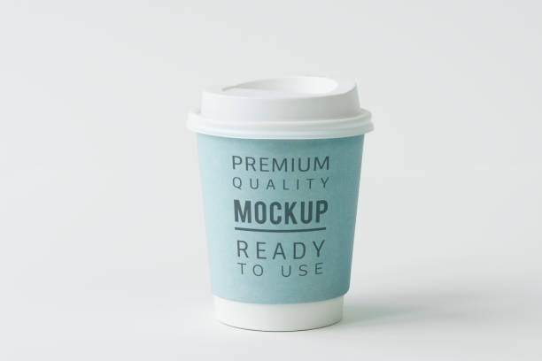 coffe cup mockup - paper coffee cup stock photos and pictures