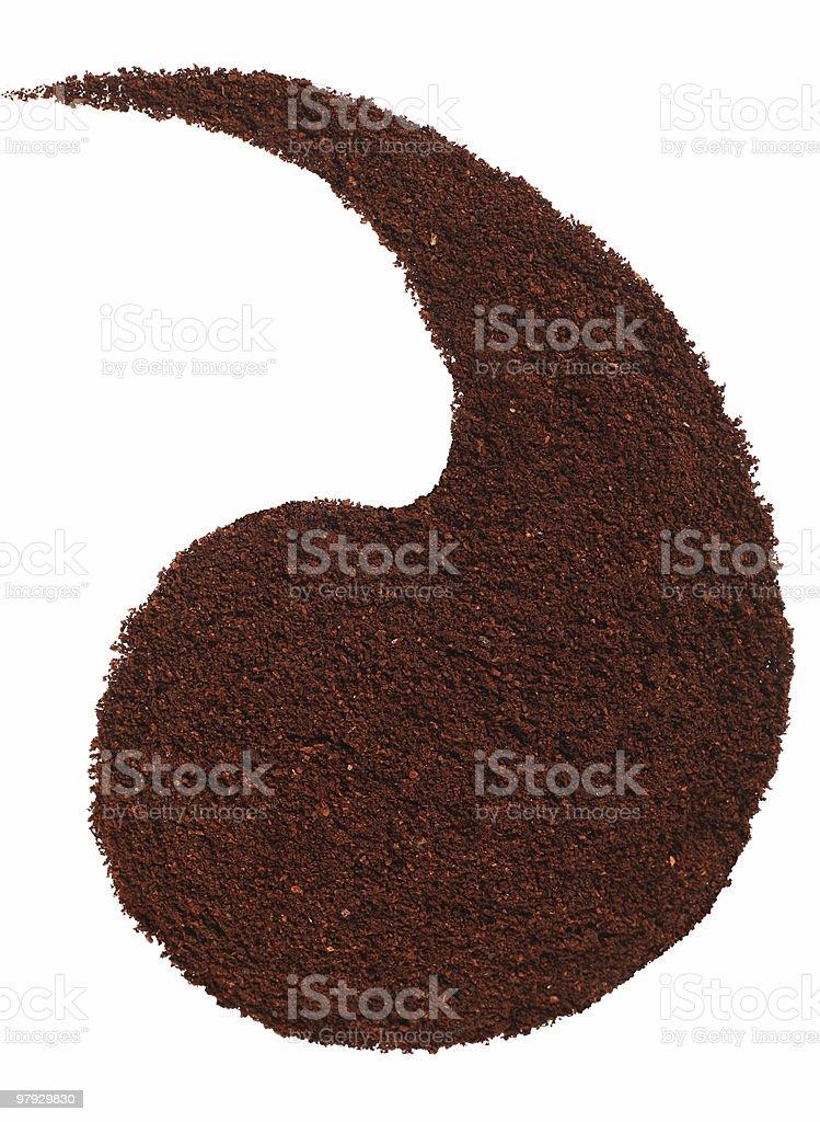 Coffe shape royalty-free stock photo